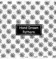 black and white hand drawn pattern vector image vector image