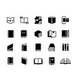 black books icons study education book set vector image