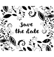 Black greeting or save the date card vector image vector image