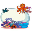 border template with sea animals vector image vector image