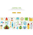 camping icon outline vector image vector image