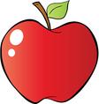 Cartoon apple vector image vector image