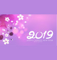 chinese new year background with blooming cherry vector image vector image