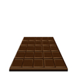Chocolate bar isolated on white background sweet vector image vector image