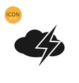 cloud with thunder icon isolated flat style vector image vector image