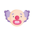 clown face icon trick or treat happy halloween vector image