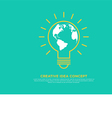 Creative idea concept light bulb and globe vector image vector image