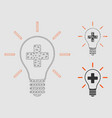 creative medicine bulb mesh network model vector image vector image