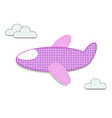 cute baby girl clip art airplane for scrapbooking vector image vector image