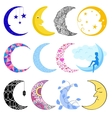 different moon month vector image vector image