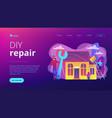 diy repair concept landing page vector image vector image