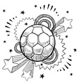 doodle pop soccer football vector image vector image