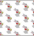 easter rabbit seamless pattern vector image vector image