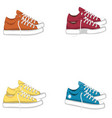 fashionable woman s shoes snickers isolated vector image vector image