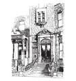 fifth avenue new york vintage engraving vector image vector image