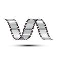 film stripe curl vector image vector image