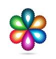 Flower symbol vector image