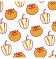 fresh pepper and tomato vegetables pattern vector image