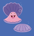 funny shell with a pearl vector image