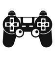 gamepad control icon simple style vector image vector image