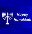 hanukkah typographic design - happy vector image vector image