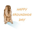 happy groundhog day concept vector image
