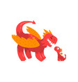 happy loving mother dragon and her baby cute vector image vector image