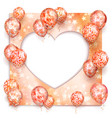 heart and balloon with stars on romantic vector image