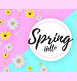 hello spring banner vector image vector image