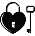 Icon heart on the lock vector image