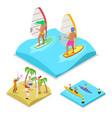 Isometric outdoor activity surfing kayaking