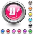 Karaoke round button vector image