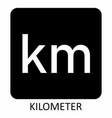kilometer symbol vector image
