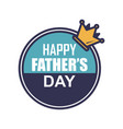 king father day badge sticker logo icon design vector image