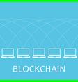 laptop net blockchain vector image vector image