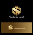 letter s company gold logo vector image