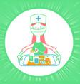 linear style nurse icon vector image vector image