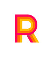 logo letter r red glowing vector image vector image