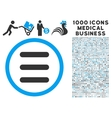 Menu Icon with 1000 Medical Business Pictograms vector image vector image