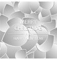 merry christmas and happy new year 2018 a holiday vector image