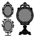 mirror ornate vintage retro princess 3 princess vector image