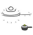 numbers game saucepan vector image vector image