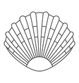 Pearl shell icon outline style vector image vector image