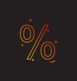 percentage icon design vector image
