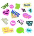 Pop art set with fashion patch badges Stickers vector image