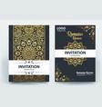 ramadan kareem mubarak brochure template design vector image