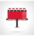Red billboard Flat icon vector image vector image