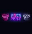 rock fest logo in neon style rock festival neon vector image