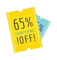 Sale banner discount label design flat vector image vector image