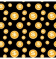 seamless pattern coins vector image vector image